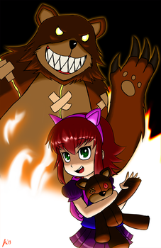 Annie and Tibbers! by J-Nanasca