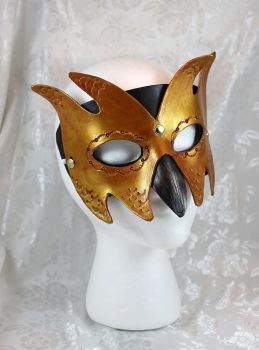 Double Goblin Leather Mask by DaraGallery