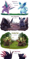 Nidorino/a  variations by XMaveria