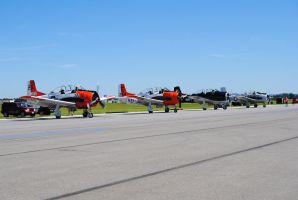 T-28 Trojans - Lehigh Valley Airshow by agentpalmer