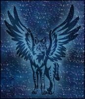 Winged Wolf Tribal Commiss by NathalieNova
