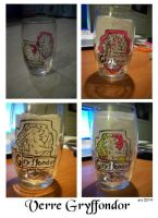 Gryffindor glass by OliviaWinona