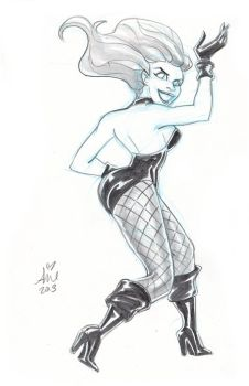 Daily Sketches:   Black Canary 1 by mainasha