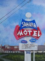 Sahara Motel by TomOliverArt