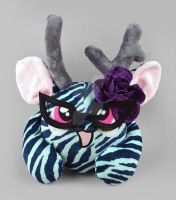 Tiger Lily the Puff Monster Plush by SewDesuNe