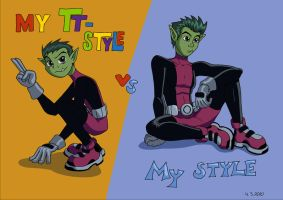 My two styles by Hiniha