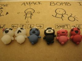 Binding of Isaac 'Minion' Charms by MEWtube3000