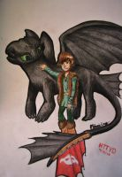 HTTYD Toothless and Hiccup by Zarlath