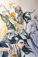 Bleach group picture by Hopehopey