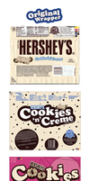 Cookies 'n' Creme Chocolate Bar Wrappers by swoboso
