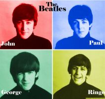 The Beatles Color Manip. 1 by WilburRobinsonsGirl