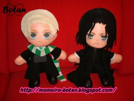 Draco and Severus Snape plush version by Momoiro-Botan