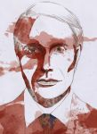 Mads Mikkelsen as Doctor Lecter by eemvisan