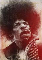 Jimi Hendrix, by Jeff Stahl by JeffStahl