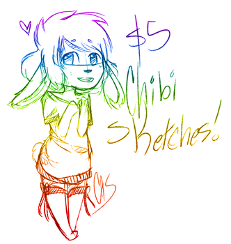Five Dollar Chibi Sketches! by Create-ItCastel