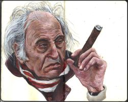Sketchbook - Old Geezer with a Cigar by keiross