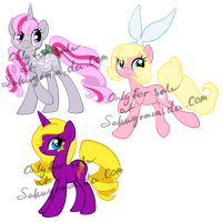 Mare Pony Adoptables 2 by Sakuyamon