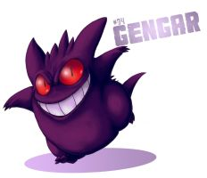 No: 94 Gengar by wildragon