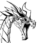Drawlloween Inktober 2015 Day 31 - Dragon by KrisSmithDW