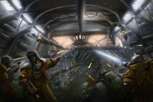 Wh40K: IG vs Orks in the Underhive by StugMeister