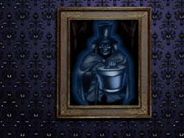 Hatbox Ghost Hanging Wallpaper by Captain-Halfbeard