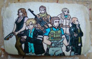 Birthday cake RE6 style by Ninisu