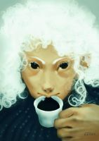 Black coffee with the white witch by Katois