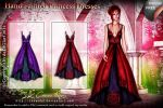Hand Painted Princess Dresses by SK-DIGIART