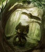 WIP In the Forest by Ashentar