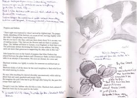 Mogwai and bumblebee -world travel book p.2,3 by toeki