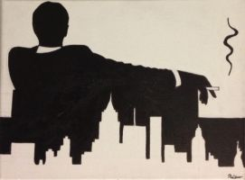 Mad Men couch silhouette by NoahSturm
