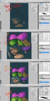 Making of Cyanide Candy, color process. by PissedArtwork
