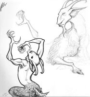Goat People by squonkhunter
