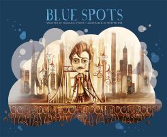 Blue Spots - Children's book cover by senyphine