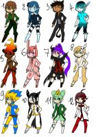 Points adoptables first set : Boys [OPEN]. by NeruAkuma