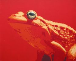 Red Frog by FrankenDracula