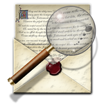 Steampunk Email Magnified Icon by yereverluvinuncleber