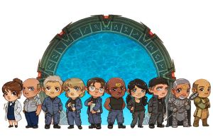 Stargate SG1 Heroes [commission] by JoannaJohnen