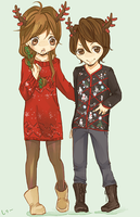 ugly sweater princess, by luxating