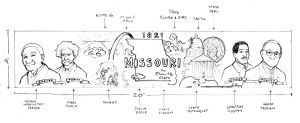 Missouri Mural sketch by SethWolfshorndl