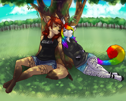 Donnecha Contest - A nap under the tree by Valkeera