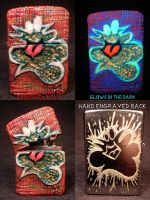 Plasma Slug Zippo by Undead Ed Glows in The Dark 1 by Undead-Art
