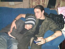 Me and Andy on Xmas by leebyrne