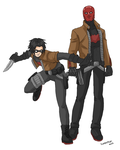 Red Hood and Hoodlum by Xinjay