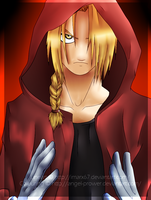 Edward Elric .:Coloured:. [SPEED PAINT] by Angel-Prower