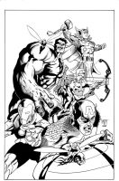 Hunt Avengers inks by madman1