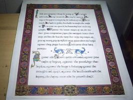 Saint Patrick Breastplate Prayer - 2nd page by calligraphyartworks