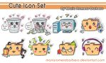 Cute Icon Set by mariaromerobarbero