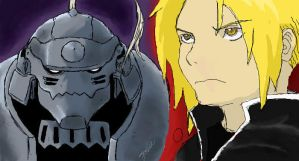Elric Bros iscribble by JoJoTeddy4