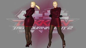 Nina Williams in mandarin gown by wakind